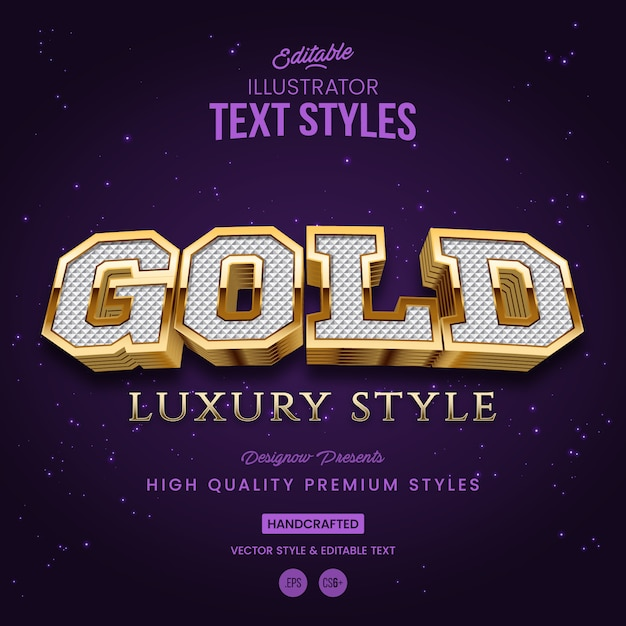 Gouden tekststijl Premium Vector
