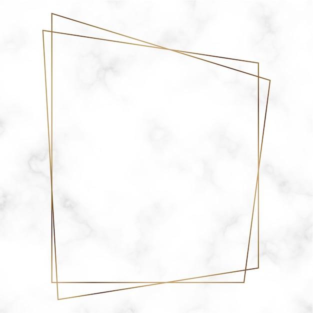 Gouden trapezoïde framesjabloon Gratis Vector
