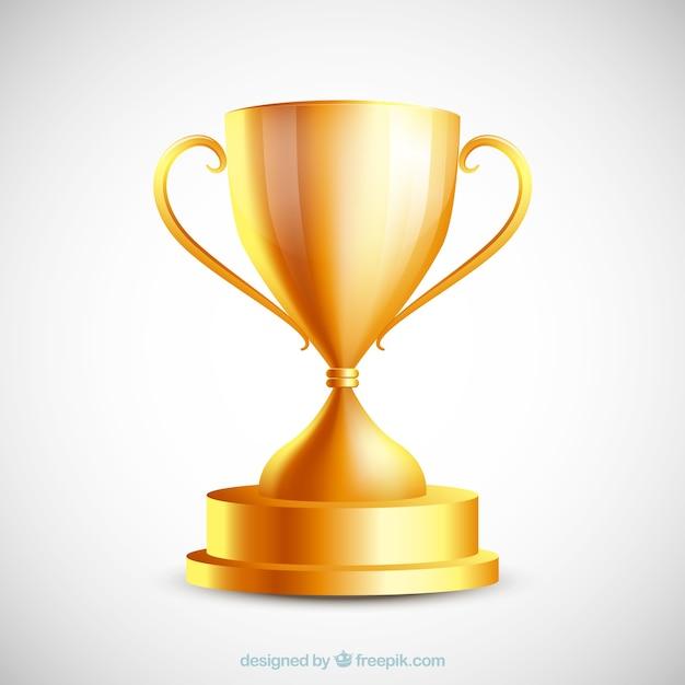 Gouden trofee Gratis Vector