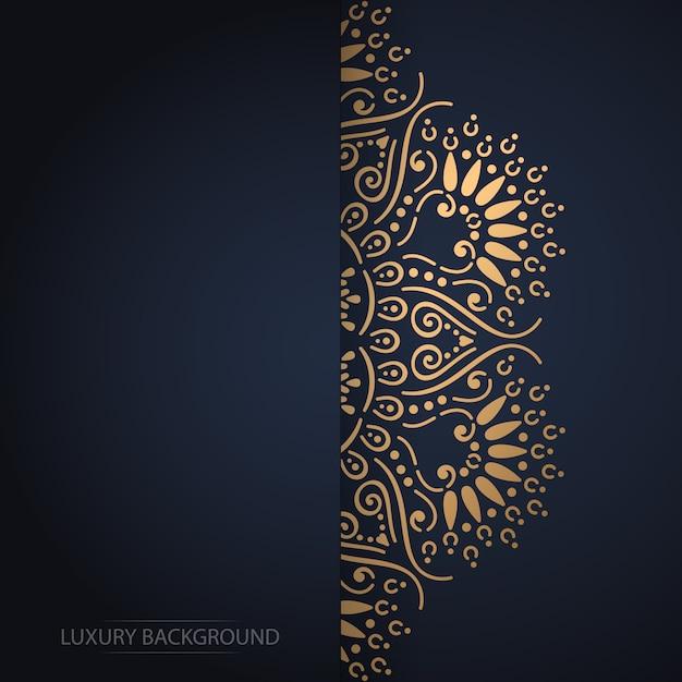 Gouden uitstekende groetkaart op een zwarte achtergrond Gratis Vector