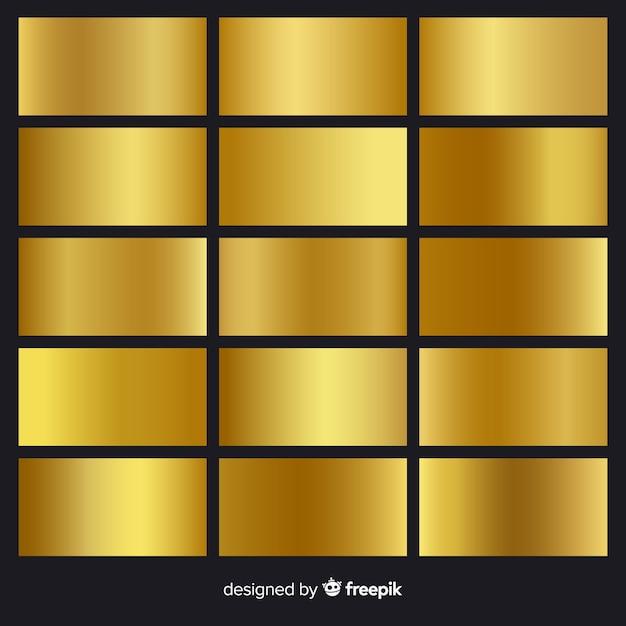 Gouden verlooppakket Gratis Vector