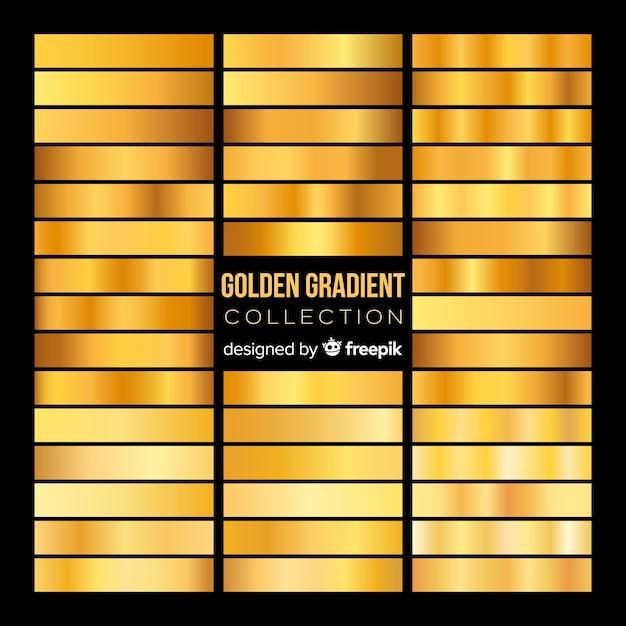 Gouden verloopverzameling Gratis Vector