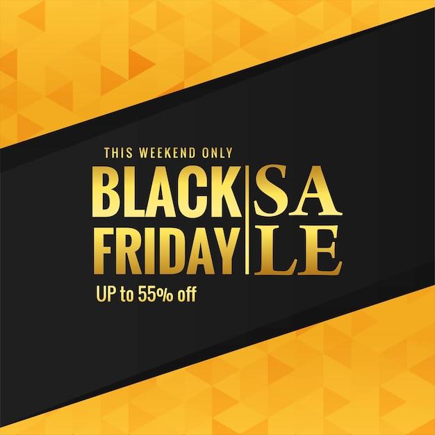 Gouden zwarte vrijdag verkoop poster achtergrond Gratis Vector