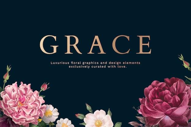 Grace wenskaart Gratis Vector