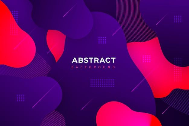 Gradiënt abstracte achtergrond met moderne vormen Gratis Vector