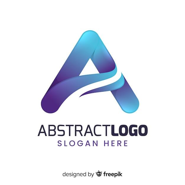 Gradiënt abstracte logo sjabloon Gratis Vector