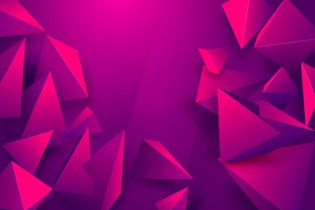 Gradient driehoek achtergrond met levendige kleuren Gratis Vector