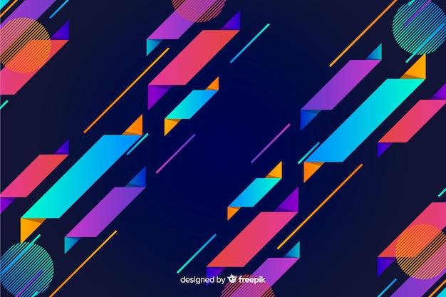 Gradient dynamische geometrische vorm achtergrond Gratis Vector