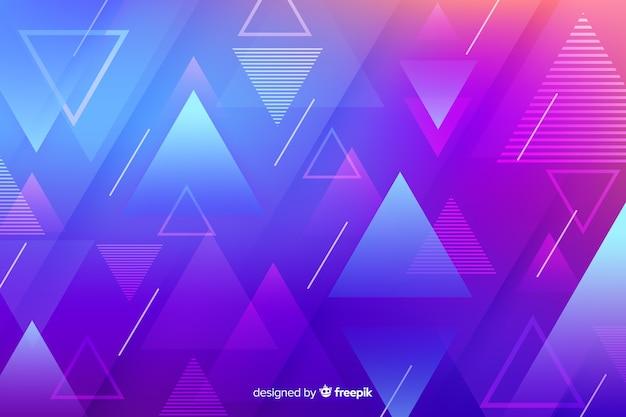 Gradiënt geometrische vormen met driehoeken Gratis Vector