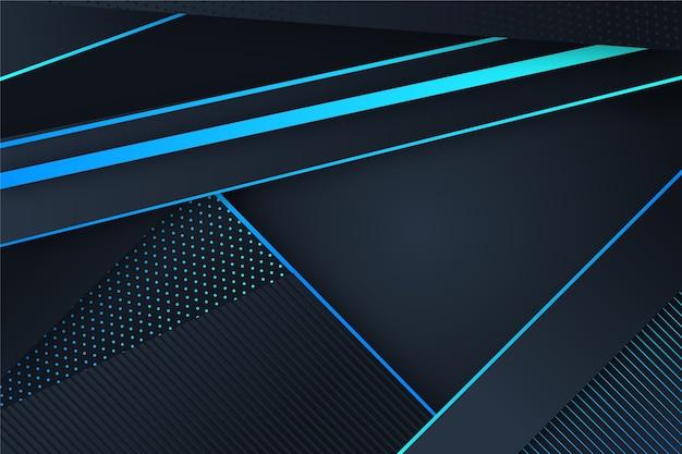 Gradiënt geometrische vormen op donkere achtergrond Gratis Vector