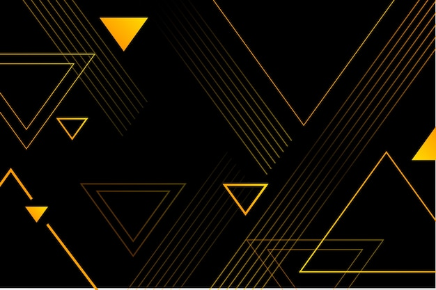 Gradiënt geometrische vormen op donkere achtergrond Premium Vector