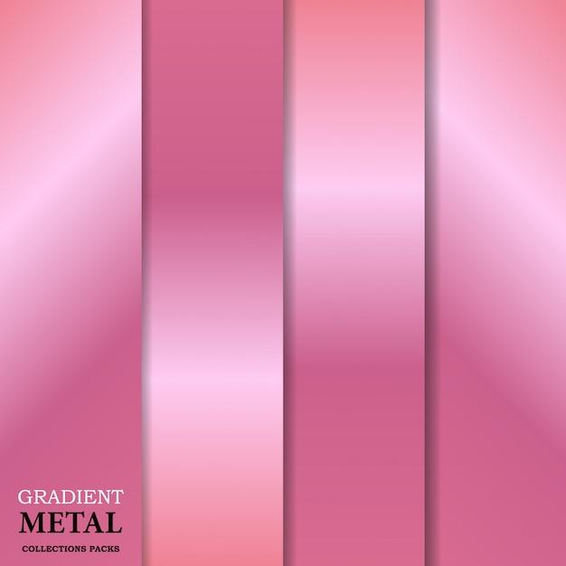Gradient gouden metalen achtergrond Premium Vector