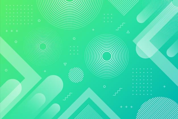 Gradiënt groenachtig blauwe abstracte geometrische achtergrond Premium Vector