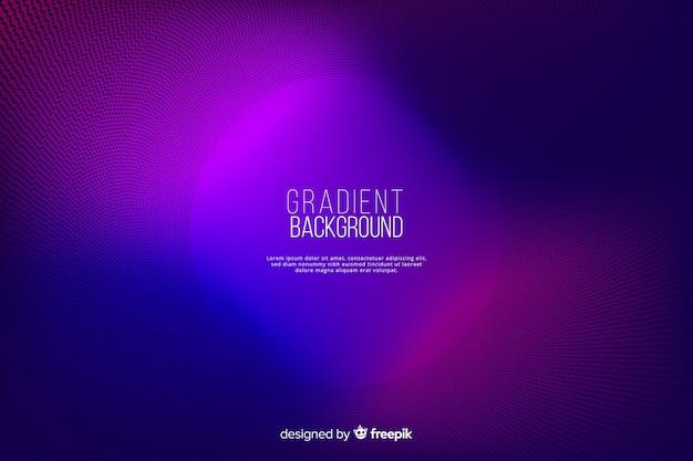 Gradiënt halftone effect kleurrijke achtergrond Premium Vector