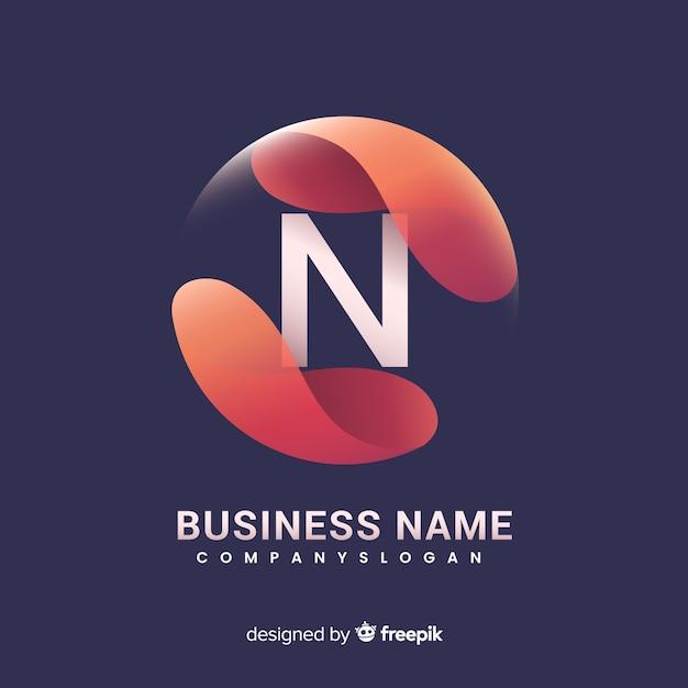Gradiënt logo sjabloon met abstracte vorm Gratis Vector
