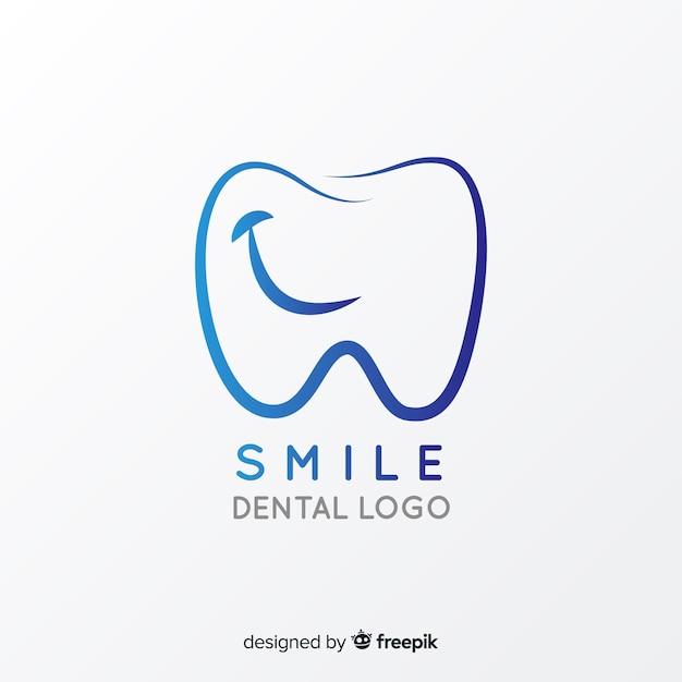 Gradient logo tandheelkundige kliniek Gratis Vector