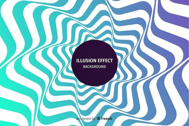 Gradient optische illusie effect achtergrond Gratis Vector