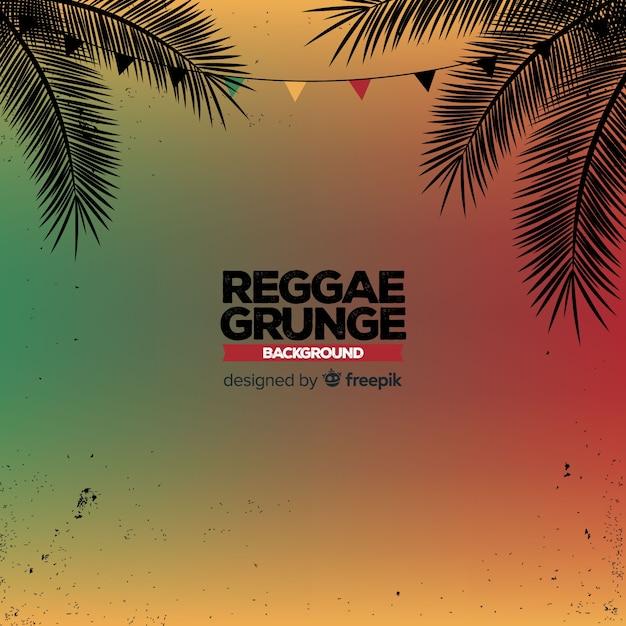 Gradient reggae achtergrond Gratis Vector