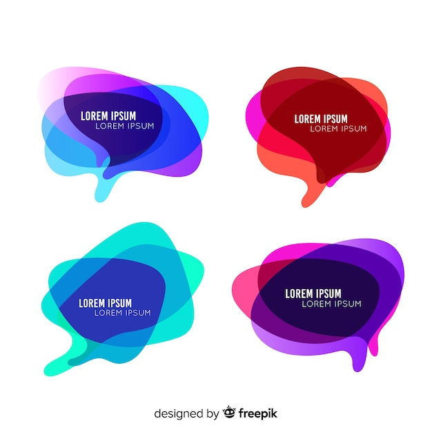 Gradient speech bubble collection Gratis Vector