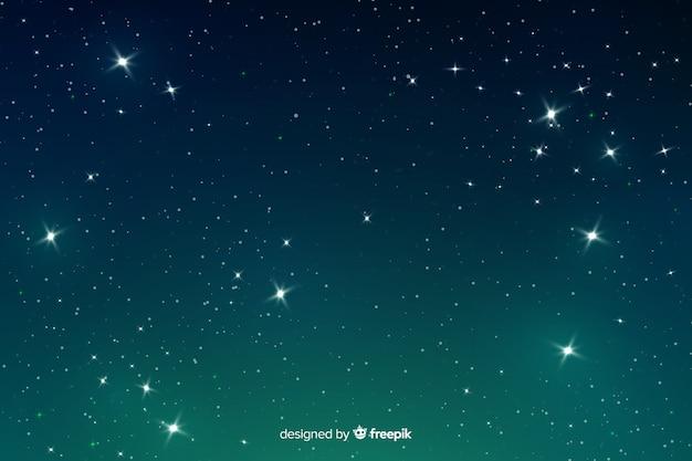 Gradiënt sterrennacht achtergrondgradiënt Premium Vector