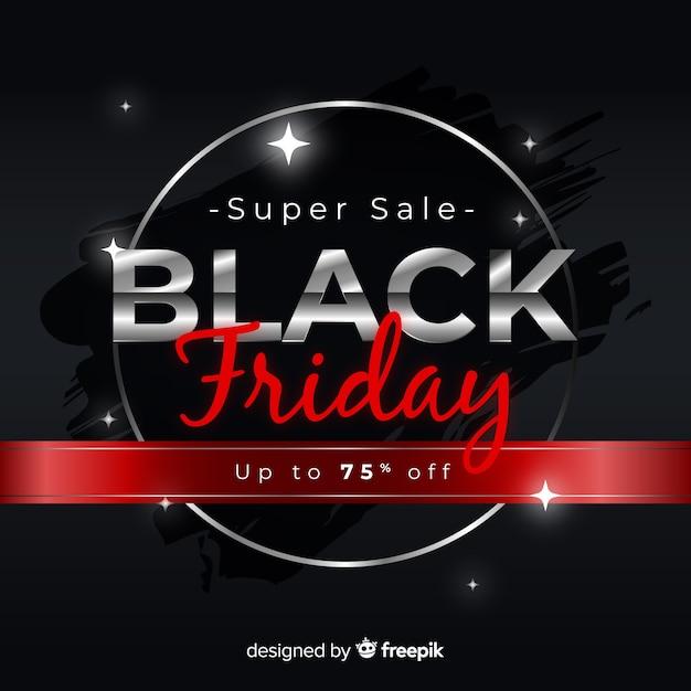 Gradiënt zwarte vrijdag verkoop Gratis Vector
