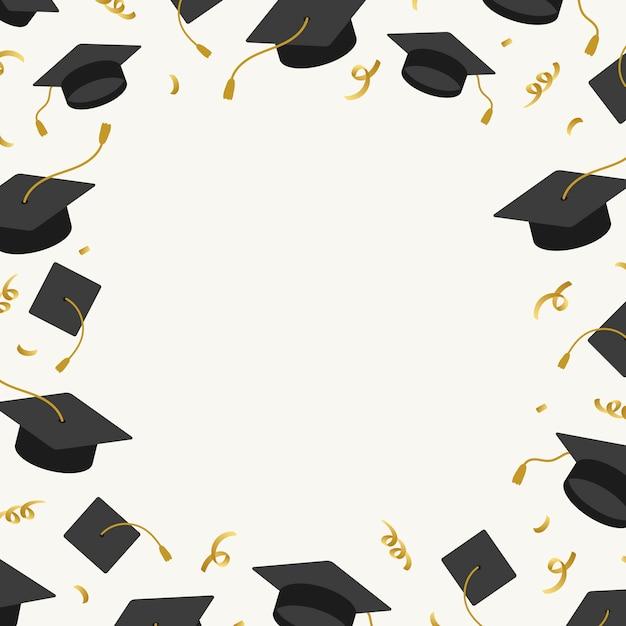 Graduation achtergrond met mortel planken vector Gratis Vector