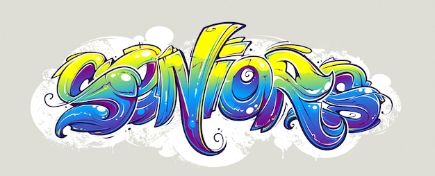 Graffiti ontwerp op de muur Gratis Vector