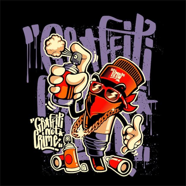 Graffity not crime Premium Vector