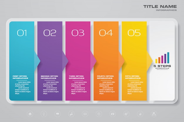 Grafiek infographic element Premium Vector