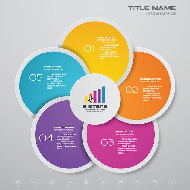 Grafiek infographic Premium Vector