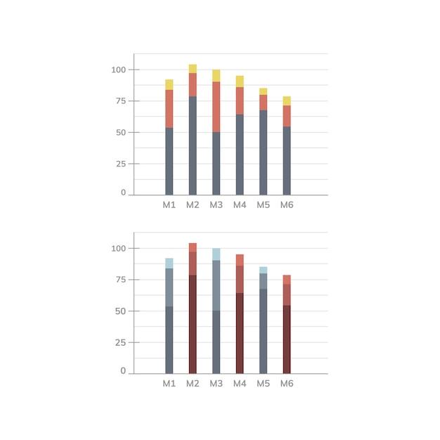 Grafiek statistieken diagram vector Gratis Vector