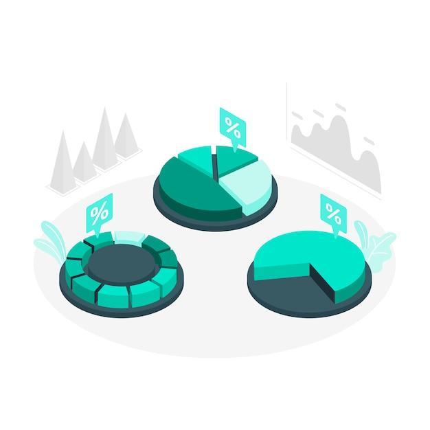 Grafieken concept illustratie Gratis Vector