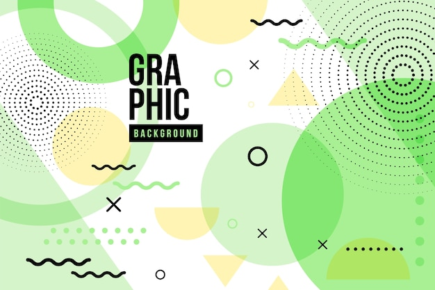 Grafisch ontwerp geometrische achtergrond Gratis Vector