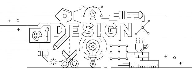 Grafisch ontwerp illustratie Premium Vector