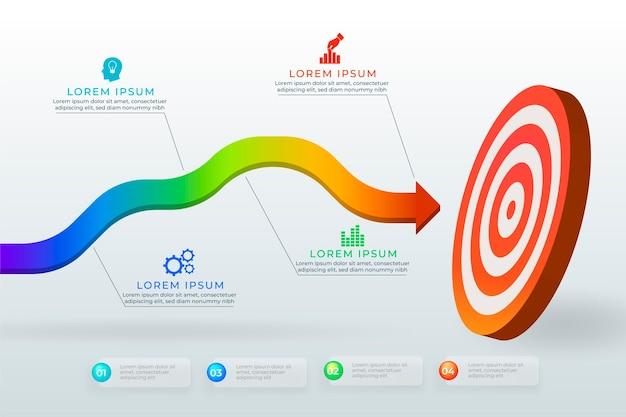Grafische doelen met verschillende informatie Gratis Vector