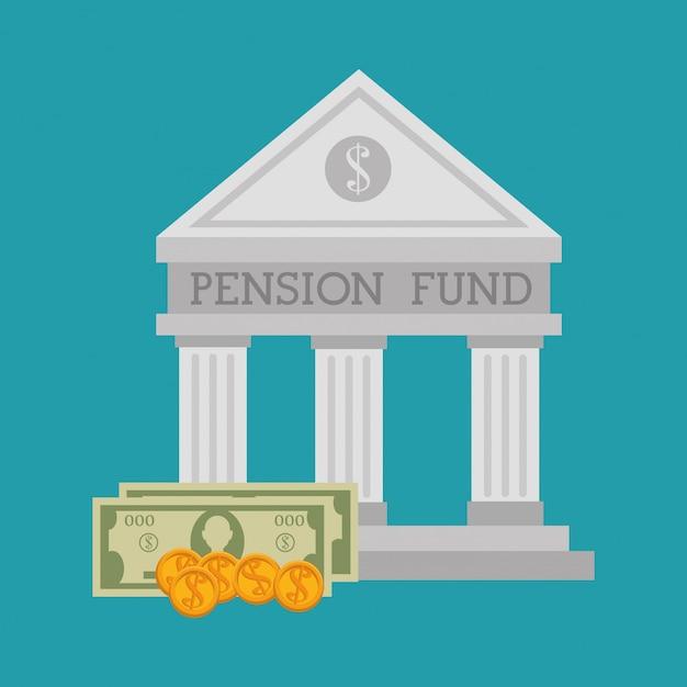 Grafische pensioenfinanciering Premium Vector