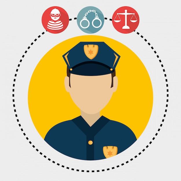 Grafische wet en wettelijke rechtvaardigheid Gratis Vector