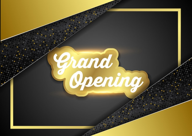 Grand opening business ceremonie vector illustratie Premium Vector