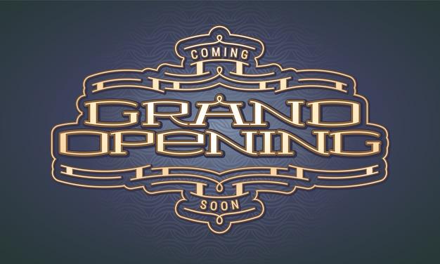 Grand opening illustratie Premium Vector