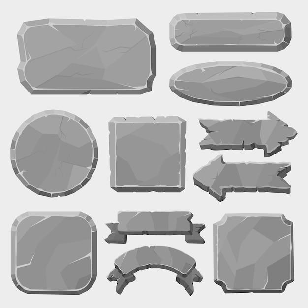 Graniet rotsen knop illustratie Premium Vector