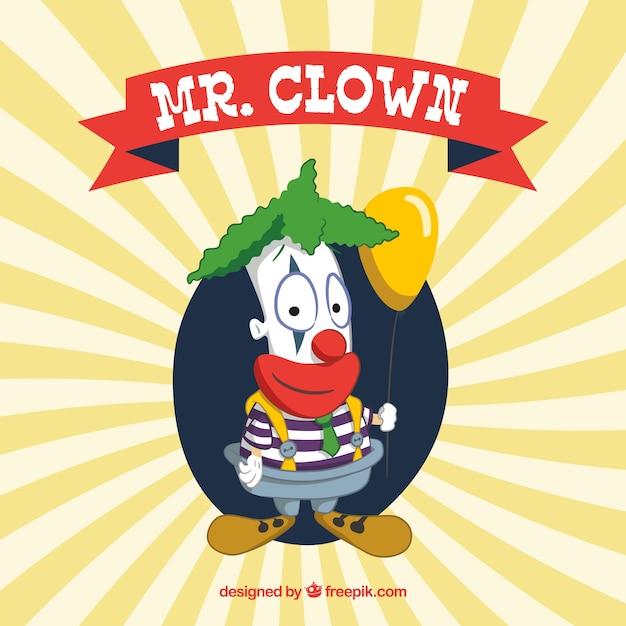 Grappig mr. clown Gratis Vector