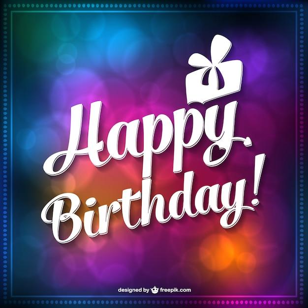 Gratis Verjaardagskaart Vector Vector Gratis Download