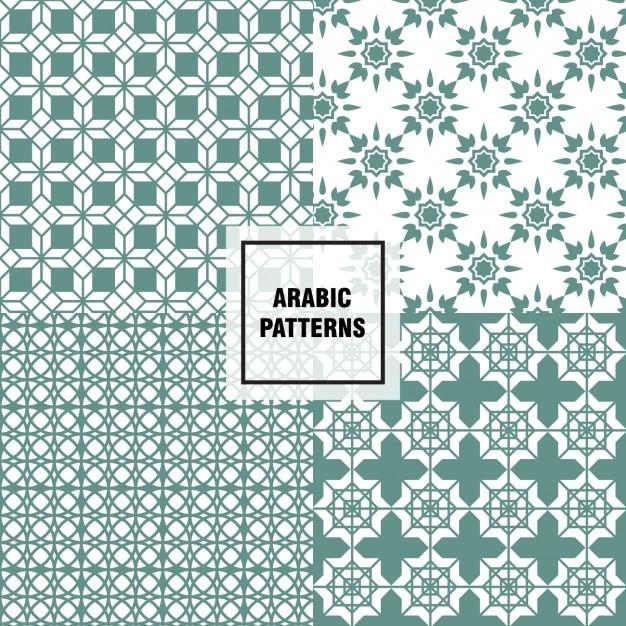 green arabische patronen vector | gratis download