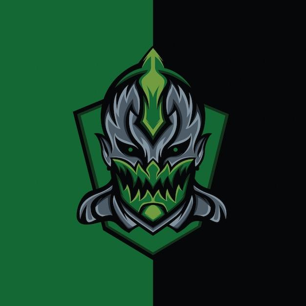Green assassin devil Premium Vector
