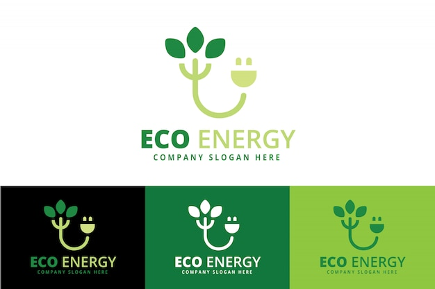 Green energy-logo Premium Vector