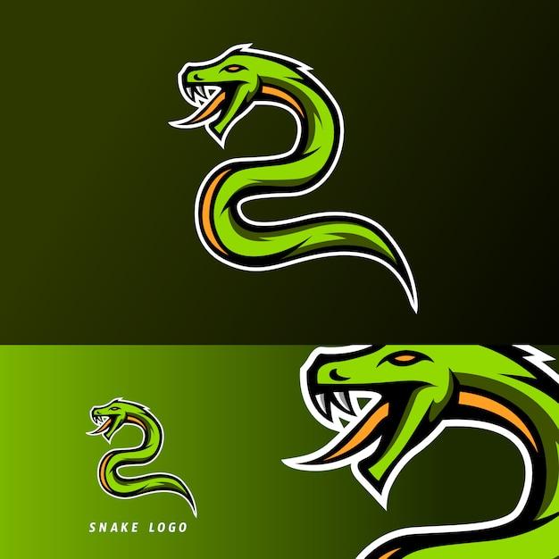 Green snake viper pioson mascotte esport logo Premium Vector