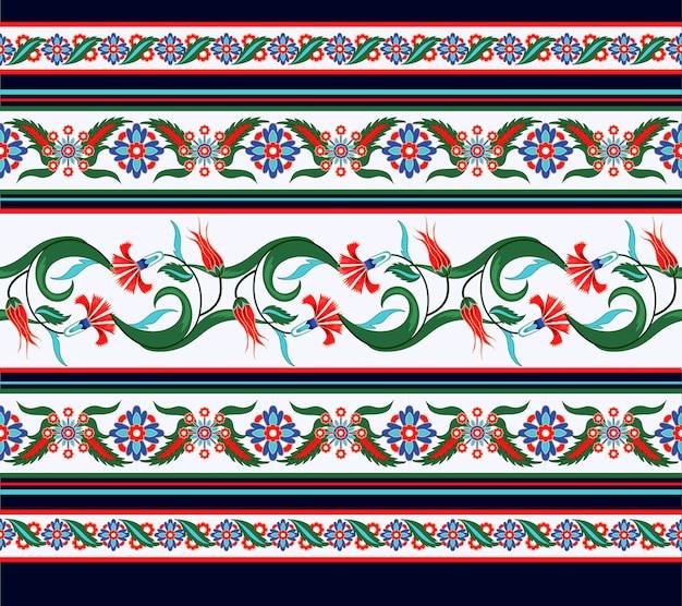 Grens naadloos met turkse en arabische ornamentelementen. Premium Vector