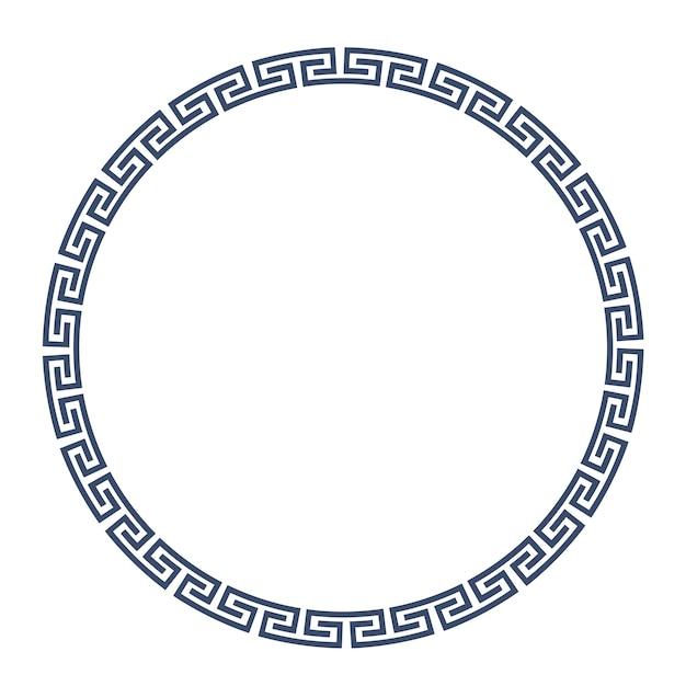 Grieks rond frame voor ontwerp Premium Vector