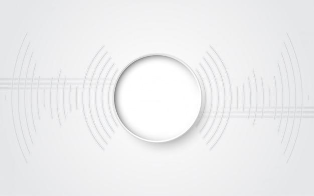 Grijs wit abstracte technische achtergrond met verschillende technologie-elementen hi-tech communicatie concept innovatie achtergrond Premium Vector
