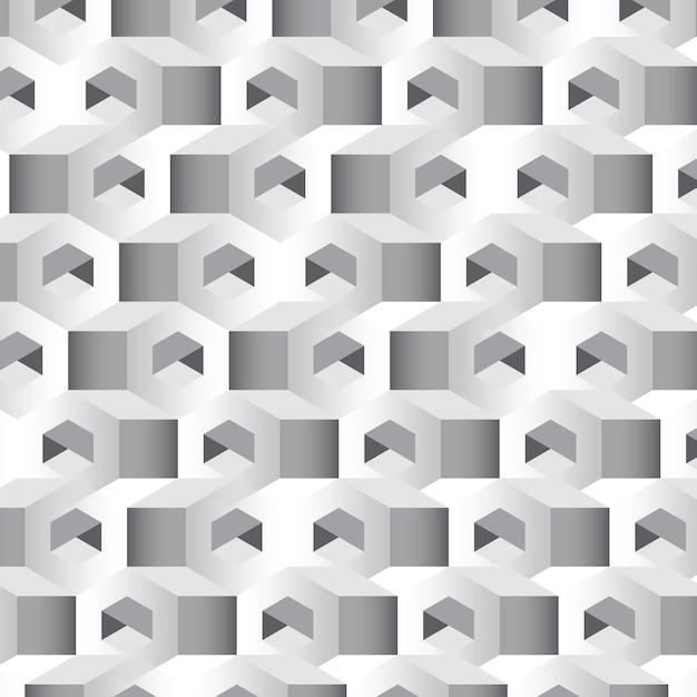 Grijze 3d zeshoekige patroonachtergrond Gratis Vector
